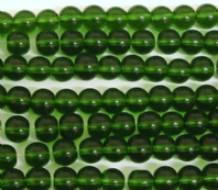 200 Glass Round Beads 4mm Green